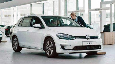 Golf er en stor suksess også som elbil.