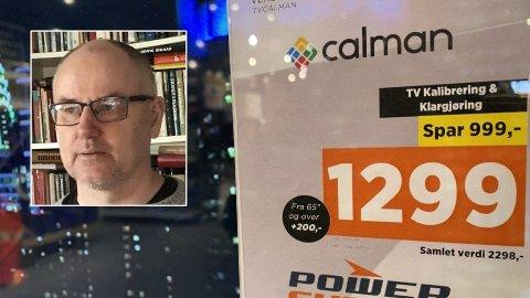 PROTESTERTE: - Et åpenbart svindelforsøk, sier Arne Solheim Kaldahl om kalibreringstilbudet fra Power. Han nektet å betale for tjenesten, siden han ikke hadde bestilt den. Foto: Morten Solli / Privat