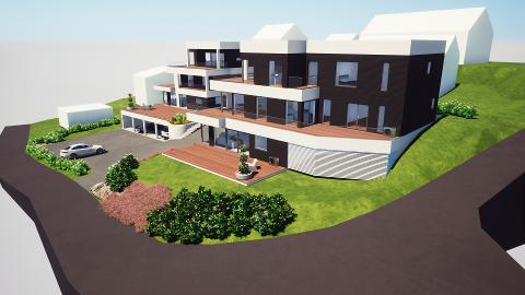 Leiligheter i terrasse ønsker Vestengveien Eiendom å bygge på Yven.