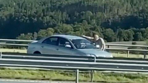 En annen bilist fikk stanset bilen som torsdag formiddag kjørte i feil kjøreretning på E6 på Grålum.