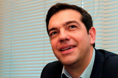 Alexis Tsipras leder partiet Syriza, som gikk seirende ut av søndagens valg i Hellas. (Foto: Lefteris Pitarakis, Reuters/NTB scanpix/ANB)