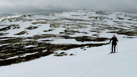 Vintrene skrumper inn med økte temperaturer. I år var det lite snø i påskefjellet selv på rundt 1.200 meters høyde ved Vågåfjell i Gudbrandsdalen.