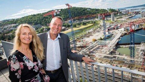 Vibeke Ahlsand og Rolf Thorsen i Oslo S Utvikling.