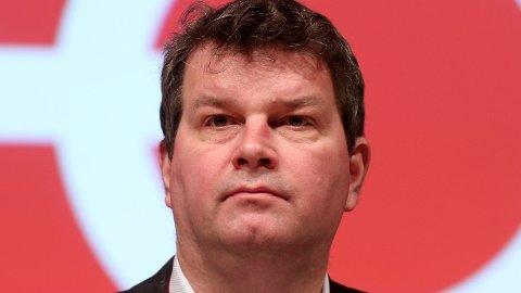 LO-leder Hans-Christian Gabrielsen har ikke sagt noe mer om tirsdagens sentralstyremøte i Ap enn at det var et «godt og åpent møte».