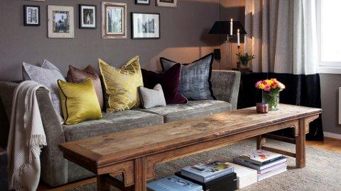 Tekstiler og teppe sørger for en levelig romklang.