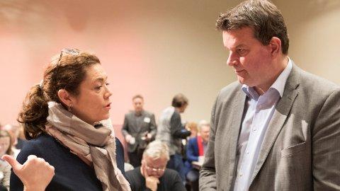 NHO-sjef Kristin Skogen Lund og LO-leder Hans-Christian Gabrielsen prøver å enes om AFP før mandag