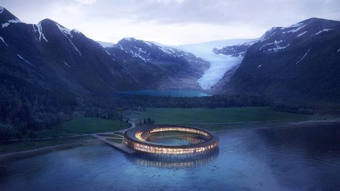 Miljøhotellet Svart kan bli en spektakulær, miljøvennlig turistmagnet ved Svartisen på Helgelandskysten.