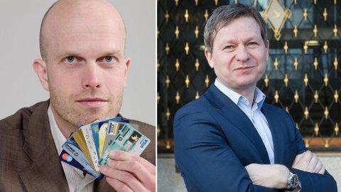 Privatøkonom og programleder Hallgeir Kvadsheim (t.v.) og kredittanalytiker Pål Ringholm i Sparebank1 Markets.