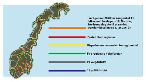 Romerikes Blad Slik Blir Det Nye Kartet Over Norge