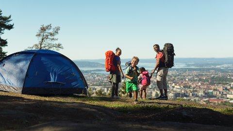 Å ta teltturen i et bynært område som Grefsenkollen i Oslo, kan være like flott som en lengre ekspedisjon.