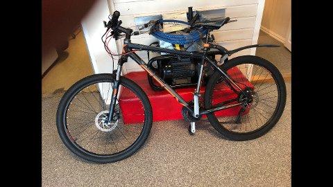 Denne sykkelen ble mandag kveld stjålet fra sykkelparkeringen ved Mysen stasjon.