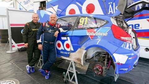 SØNNENS TUR: I to sesonger har Ola Frøshaug kjempet med Europas beste i rallycross. Nå er det slutt. I stedet skal sønnen Hans-Ola få prøve seg.
