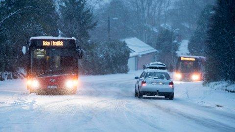 NEDBØR: Det er det er ventet nedbør i form av snø, regn og sludd på Østlandet fram mot helga.