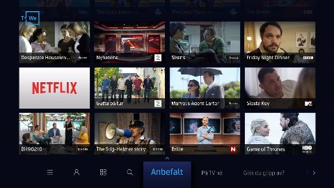Brukergrensesnittet på Telenors oppgraderte TV-boks.