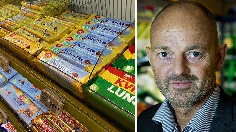 Bjørn Takle Friis i Coop er svært misfornøyd med Freia og måten han mener de gir fordeler til Norgesgruppen.