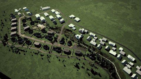 SMÅHUS: Utbygger ønsker å bygge 25-30 småhus i to etasjer.