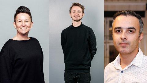 Åse Kristina Heien fra Spydeberg står på andre plass på SV-listen til stortingsvalget i 2021. Freddy André Øvstegård topper listen mens Barham Azadi (t.h.) har tredjeplassen.