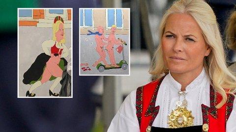 PORNOSATIRE: I et nytt kunstprosjekt avbildes en rekke sentrale personer i Kristiansand og Mette-Marit enten helt eller delvis naken.