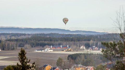 Luftballongen som ble observert over Trøgstad.