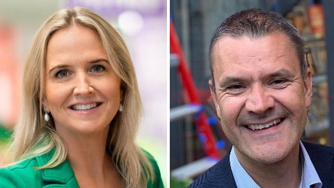 KUTTER PRISENE: Både Kristine Aakvaag Arvin i Kiwi og Christian Hoel i Extra sier at de kutter prisene på de samme varene - eller sammenlignbare varer - som Rema 1000 i april.
