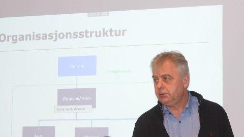 ORIENTERTE Kraftguru Atle Terum orienterte formannskapet i Lærdal om ulike sider ved konsernmodellen.