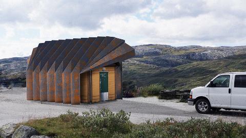 FULLFØRAST I 2020: Utbetringar av rasteplass og toalett på Oscarshaug på Sognefjellet.