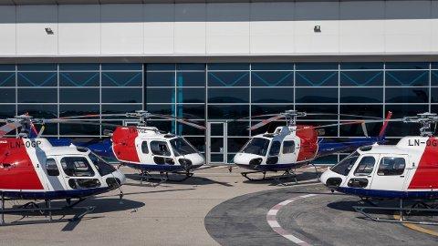 NYE: Helitrans har fått fire Airbus H125 helikopter. Dette er dei siste av ei bestilling på 10 Airbus H125. Foto: Eric Raz