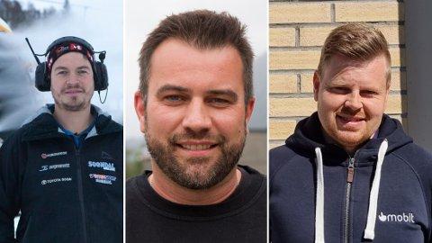 FEKK SMEKK: Kim Andre Navarsete, Arild Tistel og Svein Ove Bergseth er alle hytteeigarar i Hodlekve, og fått bøter av Sogndal kommune for regelbrot.