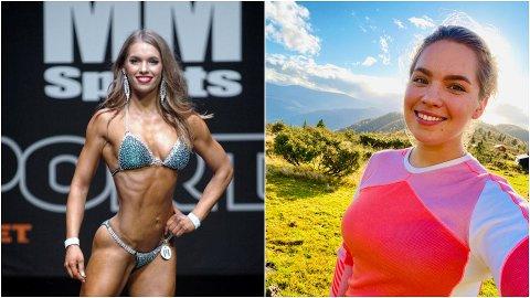 ULIKE HOBBYAR: Malin Partenyi (31) sin tidlegare hobby som fitnessutøvar er noko litt anna enn det ho brukar mykje fritid på no om dagen; fjellturar.