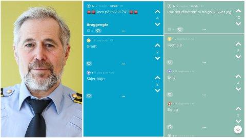 INGEN PROBLEM: Sjefen for politiet i Sogn og Fjordane Arne Johannessen har ingenting imot at rånarane samlar seg, så lenge dei tar omsyn til naboane og ikkje forstyrrer ro og orden.