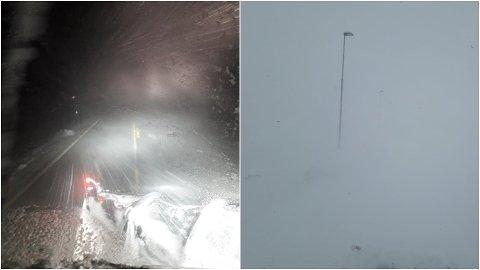 HUSTRIGT: Natt til torsdag og torsdag morgon har det vore temmeleg heftig vêr på fjellovergangane i Sogn, til og med her på den mest vèrsikre av dei alle - Filefjell.