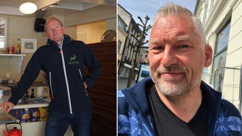 ISFRONT: Fersk Hodlekve-investor Erlend Follegg (til venstre) meiner Telemarksavisa har hatt ei einsidig negativ dekning av selskapa han eig. Redaktør Ove Mellingen er ikkje samd.