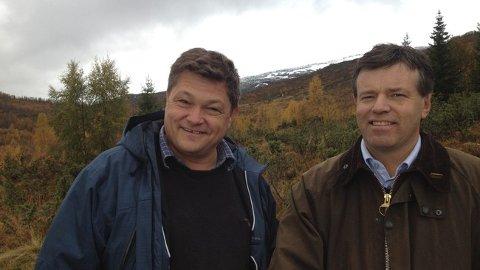 DEN GONG DÅ: I 2012 la Even Hegbom og Jomar Haukås fram store planar for Hodlekve og skidestinasjonen dei ville utvikla saman. No er forretningspartnarane på kvar si side i ein rettsleg strid.