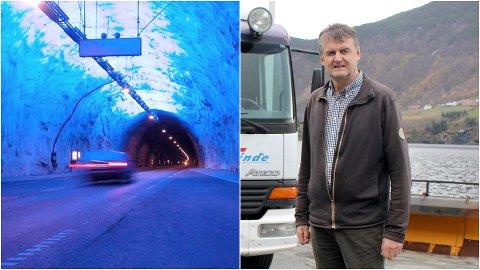 BEKYMRA: Magne Ahlin, seniorkonsulent i Slinde transport, er bekymra for at Lærdalstunnelen kan koma til å bli stengt gjennom heile natta alle dagar i fire år når oppgraderingsarbeidet skal til der, etter planen i 2022.