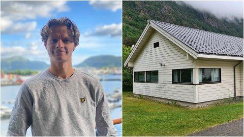 PÅ TIDE: David Molde (18) tykkjer det er på høg tid at kommunen får landa ungdomsklubbsaka slik at ungdomane får ein permanent plass å vera så fort som mogleg. Denne bygningen er det som no ligg på bordet.