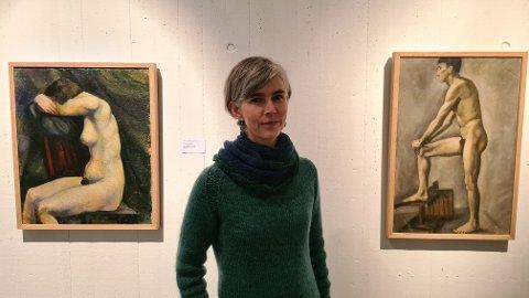 KURATOR: Ingrid Norum frå Sogn og Fjordane kunstmuseum er kurator for utstillinga «Kroppsfokus», altså er det ho som har designa den.