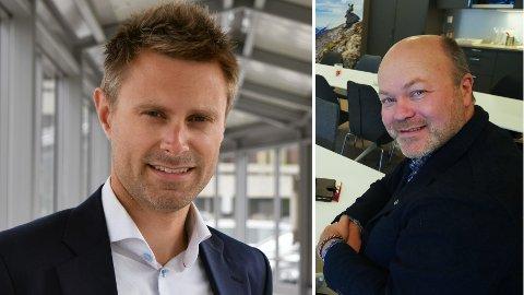 LOVORD: Språkprofessor Øystein Vangsnes (til høgre) likar namnet dei fire kraftselskapa har valt. Øystein Vikingsen Fauske er sjef for det samanslegne selskapet.