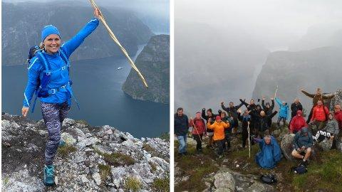 NATURLEG RUS: Siri Otterskred jobbar i Bergenhus Aktiv og er frivillig i Medvandring Bergen, og brukar naturen og fjellturar for å hjelpa tidlegare avhengige ut av rusen.