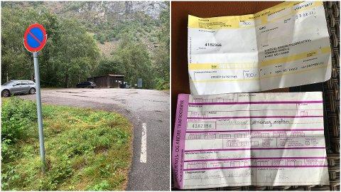 PARKERING FORBODE: Fleire fekk parkeringsgebyr etter å ha parkert ulovleg på snuplassen på Hjelle i Utladalen i helga.