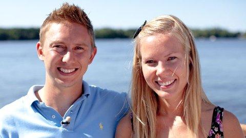 Eline Skraastad sammen med sin utkårede Bjorn Anders Carlson.