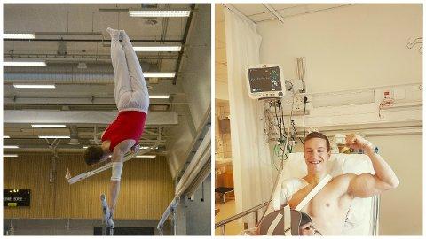 Stian Skjerahaug er ved godt mot, selv om han må finne seg i en treningspause etter operasjonen.