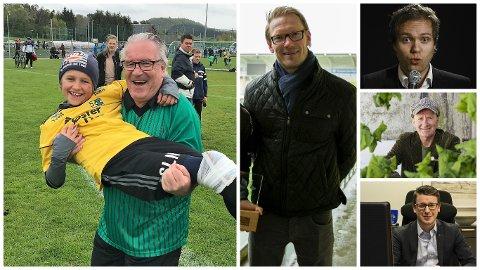 Davy Wathne, Ole Martin Årst, Rune Bjerga, Kristian Arntsen og Ole Ueland stiller til kjendiskamp under Sola Cup.