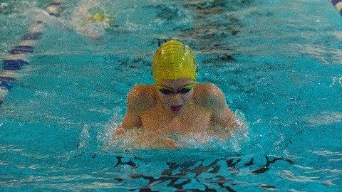 Collin van der Hoff er i sitt rette element når han er i bassenget. Der har han imponert med sin framgang.