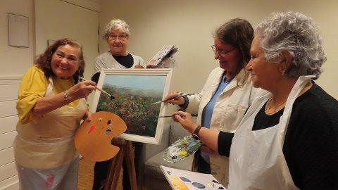 Solveig Stangeland (t.v.), Målfrid Knutsen Fatland, Kristin Hamre og Qahera Jadir utgjør Seniorpaletten.