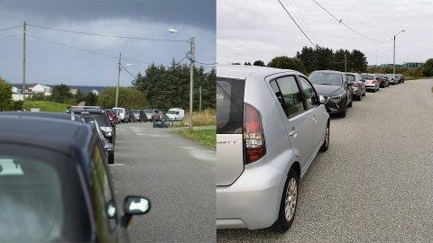 Samme sted - et års mellomrom. Til venstre ser vi hvordan det var i Raffinerivegen tirsdag 17. september 2019, mens vi i det andre bildet ser situasjonen fredag 18. september 2020.
