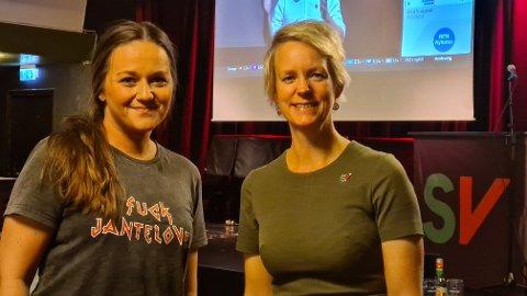 Bettina Lindgren og Ingrid Fiskaa på Spor 5.