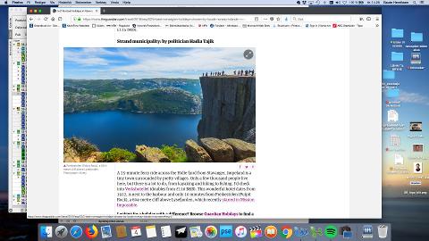 Strand og Jørpeland blir anbefalt som feriemål i storavisa The Guardian. (Skjermbilde)