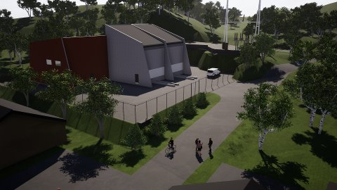 NY:  Illustrasjon av nye Hjelmeland transformatorstasjon (Kilde: Lyse Elnett)