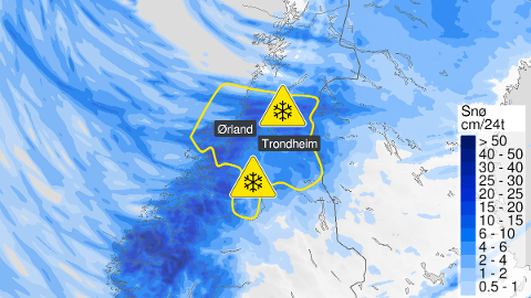 Meteorologisk Institutt sier at det er 50 % sjanser for nedbør fra fredag ettermiddag til lørdag kveld.