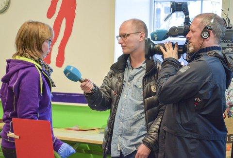 SVARTE GODT FOR SEG: Benedicte Holtan Wessel ble intervjuet av NRK og hun svarte godt for seg på spørsmålene fra den utsendte reporter.